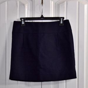 J. Crew Blue Cotton Skirt Size 2